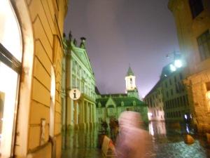 My first night in Bratislava.