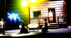 The opening scene of CLOUD 9, another play I loved directing, especially because it pushed buttons and promoted discussion.