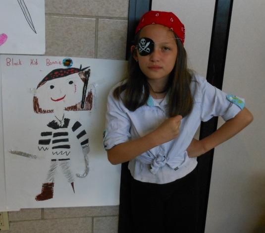 Black Kid Bonnie and Captain Sarah Lee